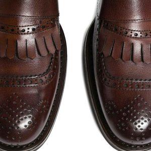 Zapato double monk fleco brogue café