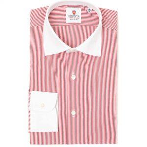 Camisa en contaste rayas rojo y blanco