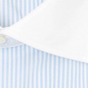 Camisa en contraste rayas azul y blanco