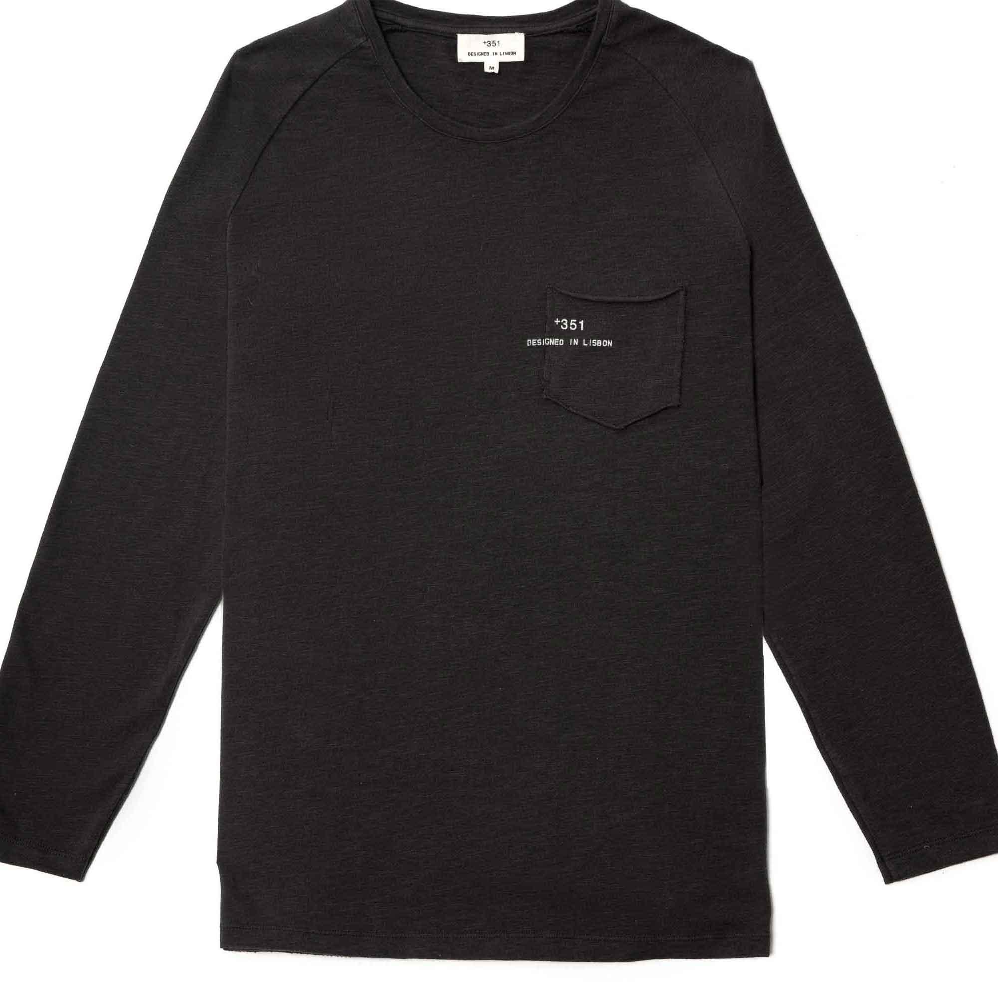 Sudadera manga larga negra con logo