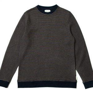 Suéter rayas azul y beige