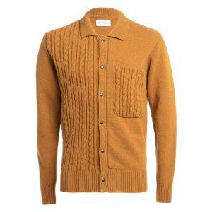Suéter tejido mostaza