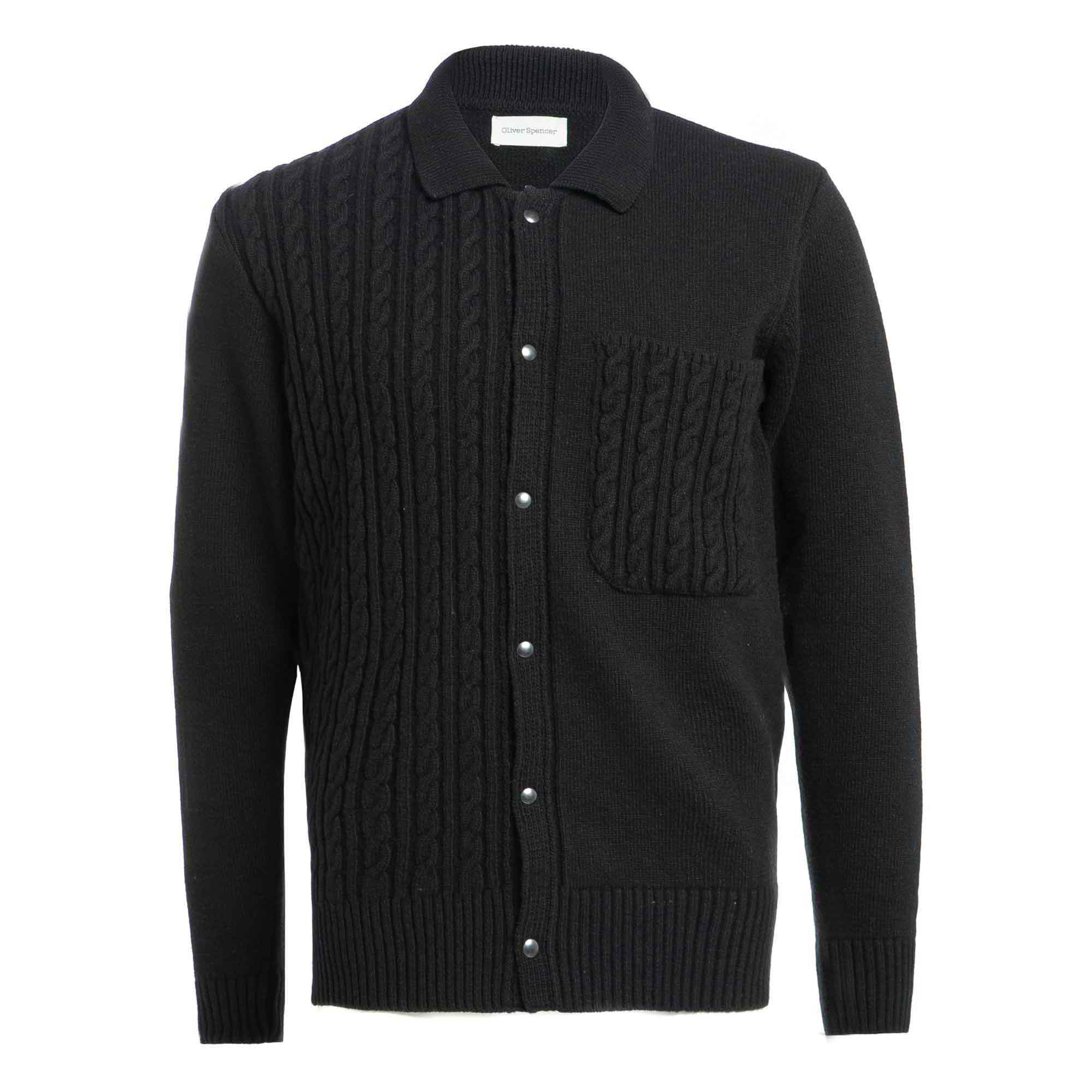 Suéter tejido negro