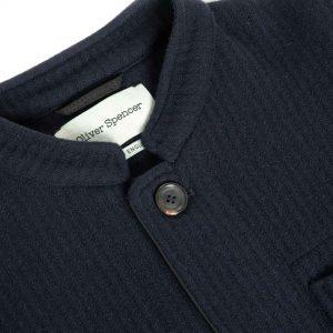Chamarra lana azul marino