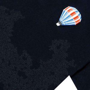 T-shirt azul globo aerostático