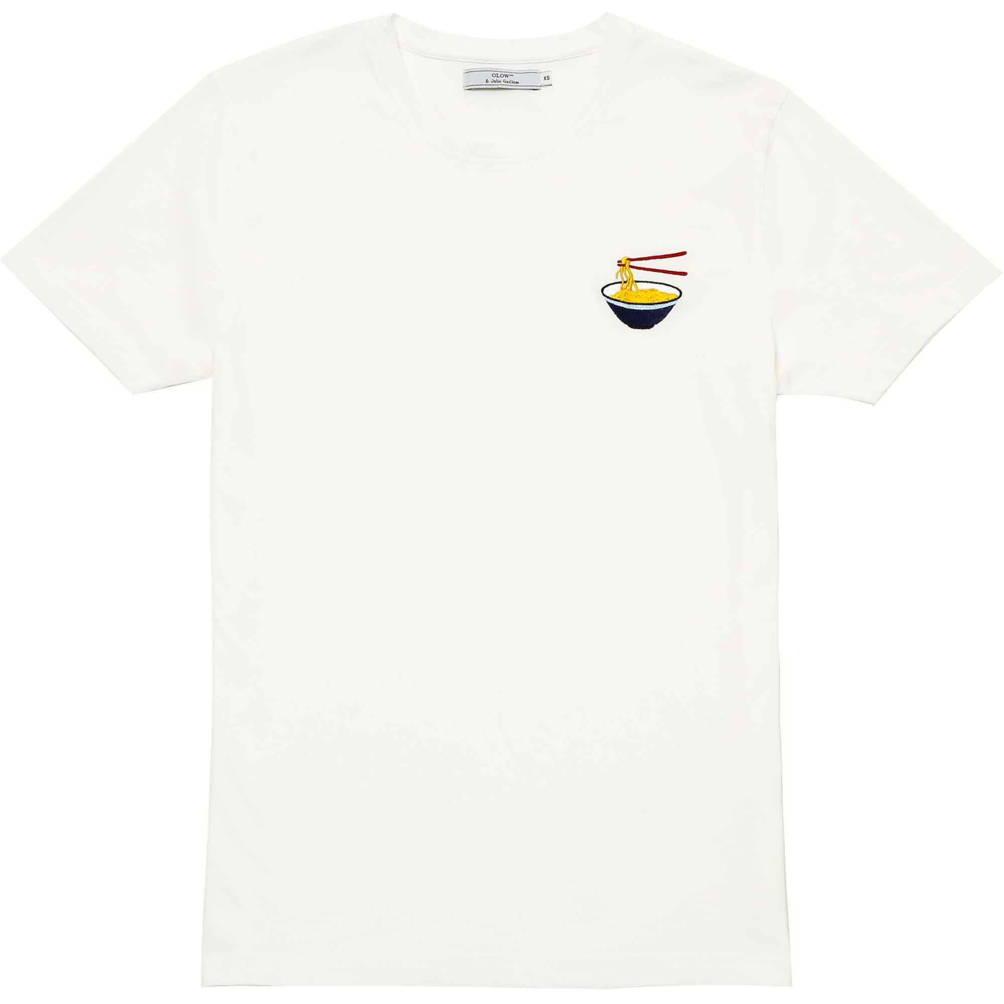 T-shirt ramen blanca