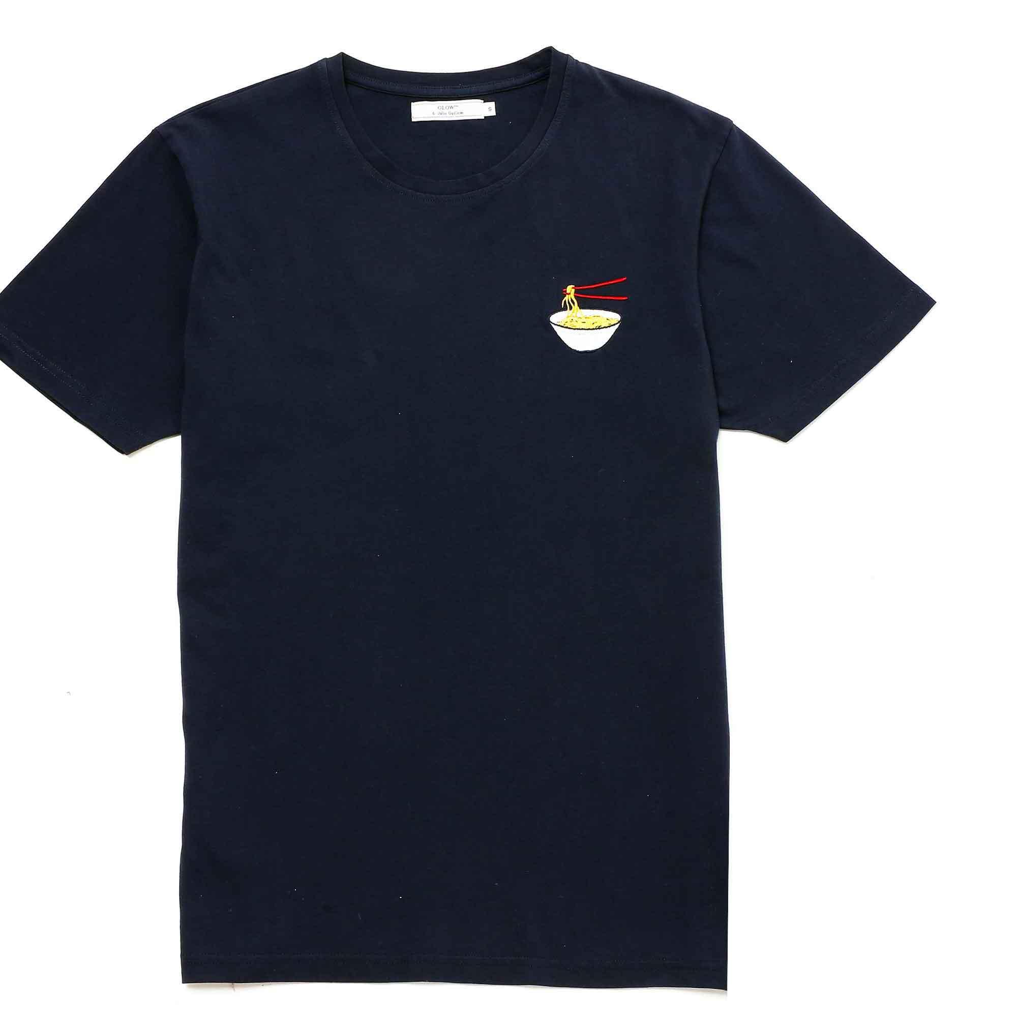 T-shirt ramen azul marino