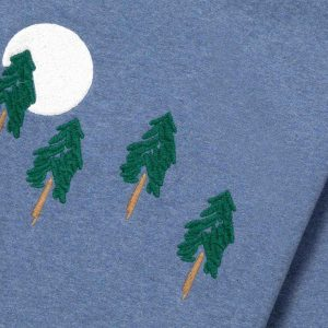 Sudadera pinos y luna