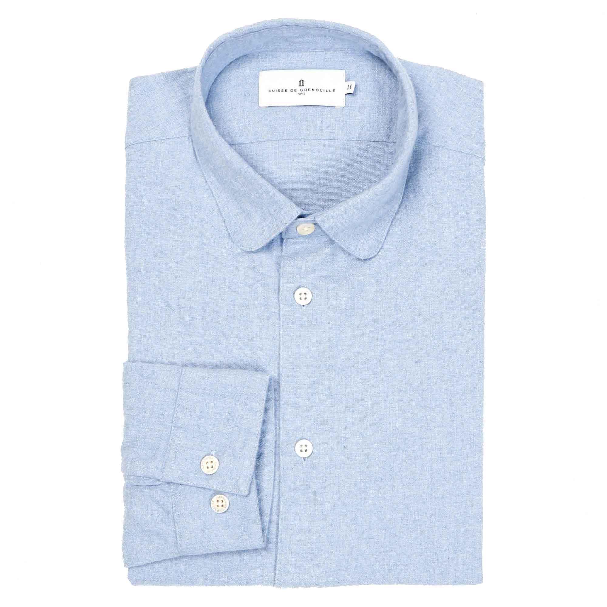 Camisa de franela azul claro