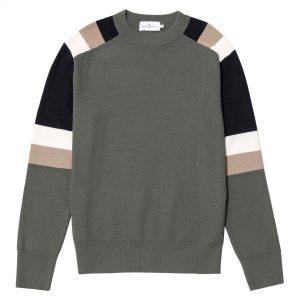 Suéter tricolor verde