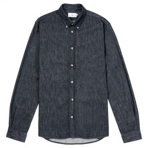 Camisa mezclilla azul oscuro
