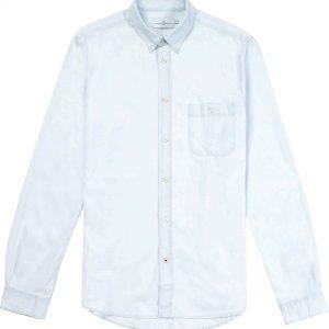 Camisa mezclilla clara