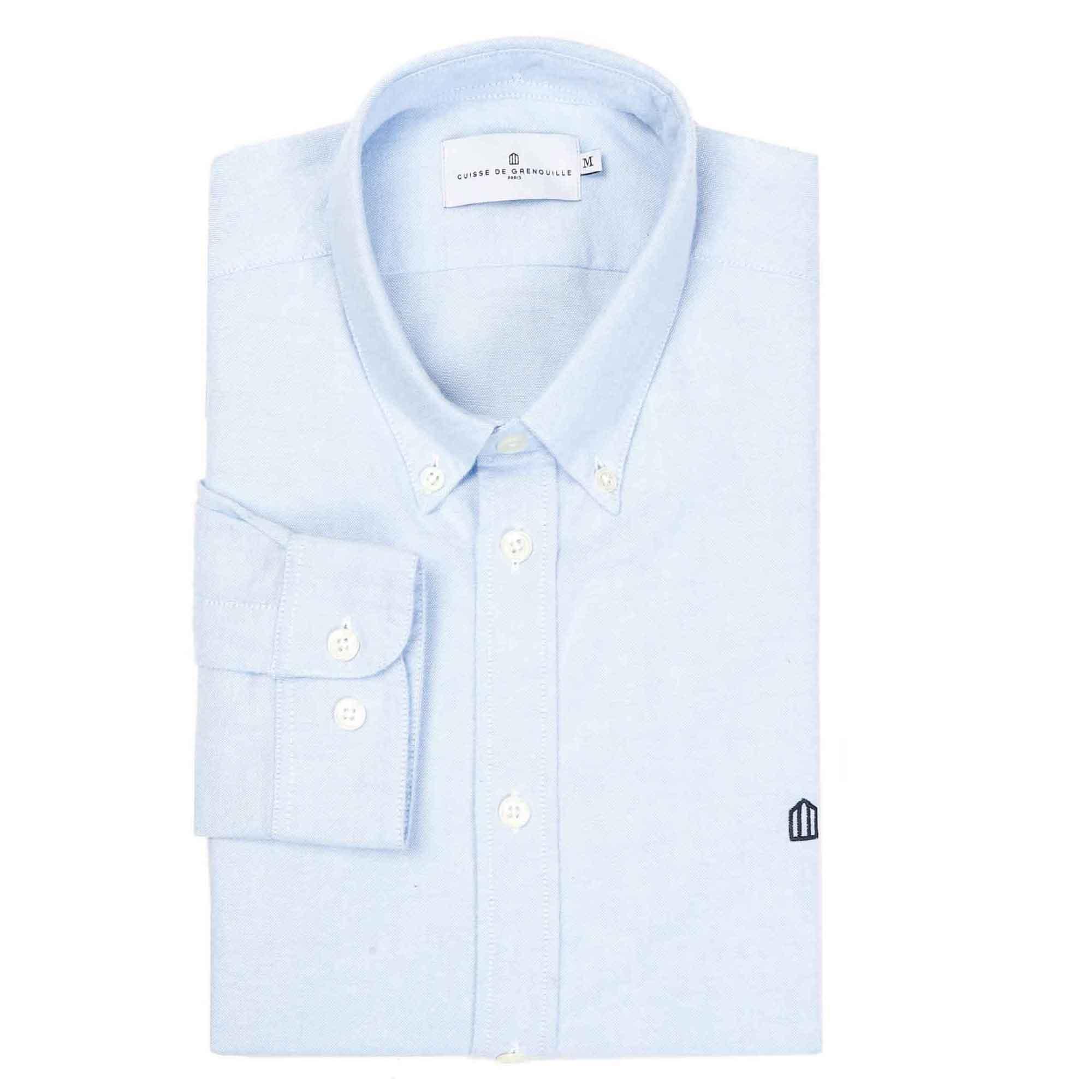 Camisa de franela con logo azul