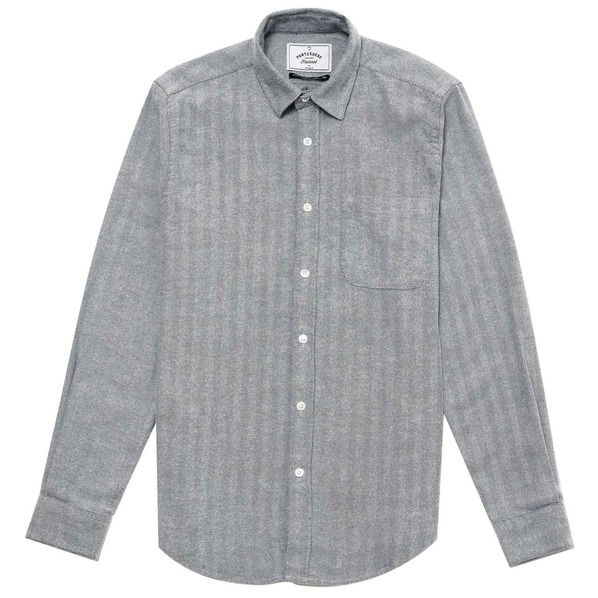 Camisa gris de espiga