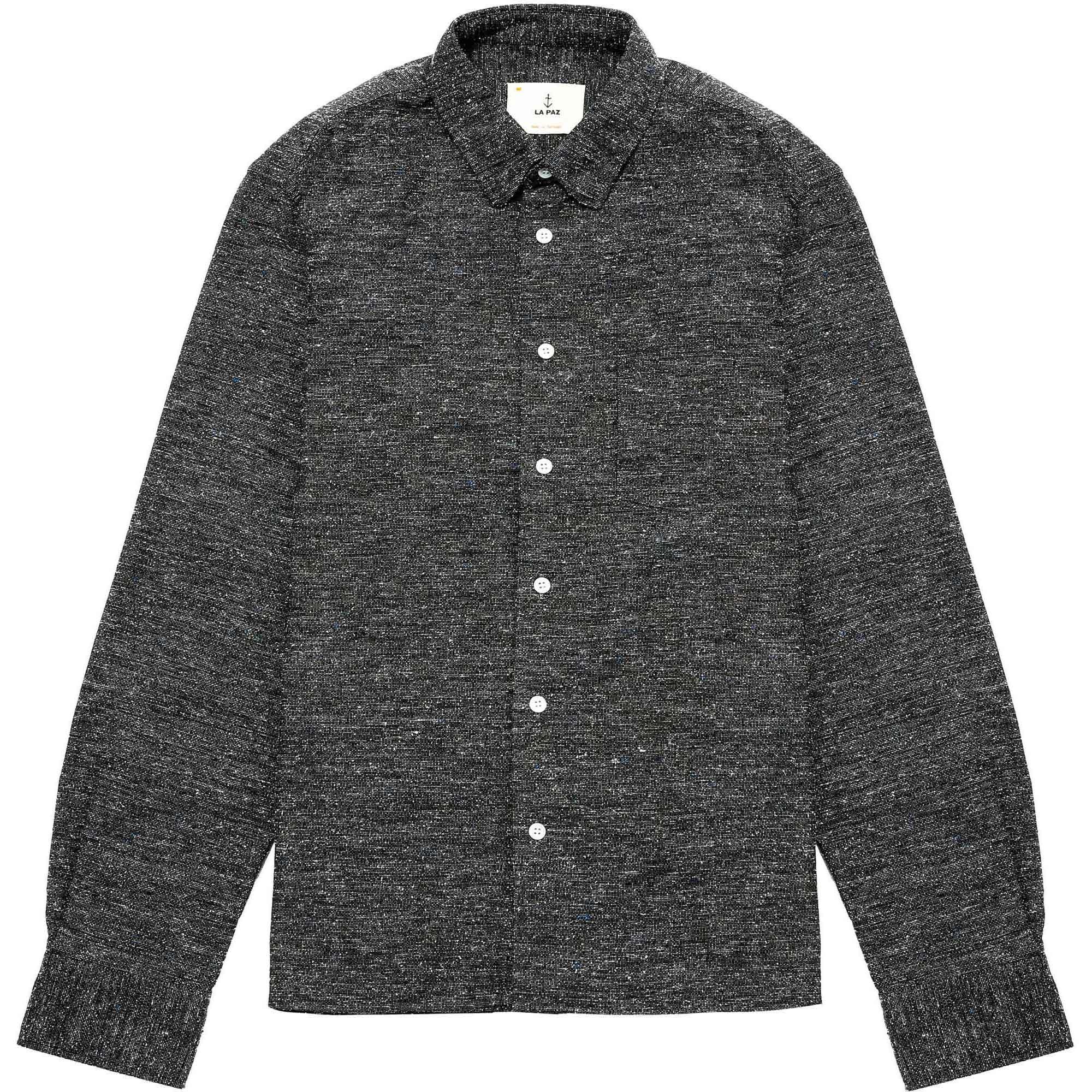 Camisa negra jaspeada