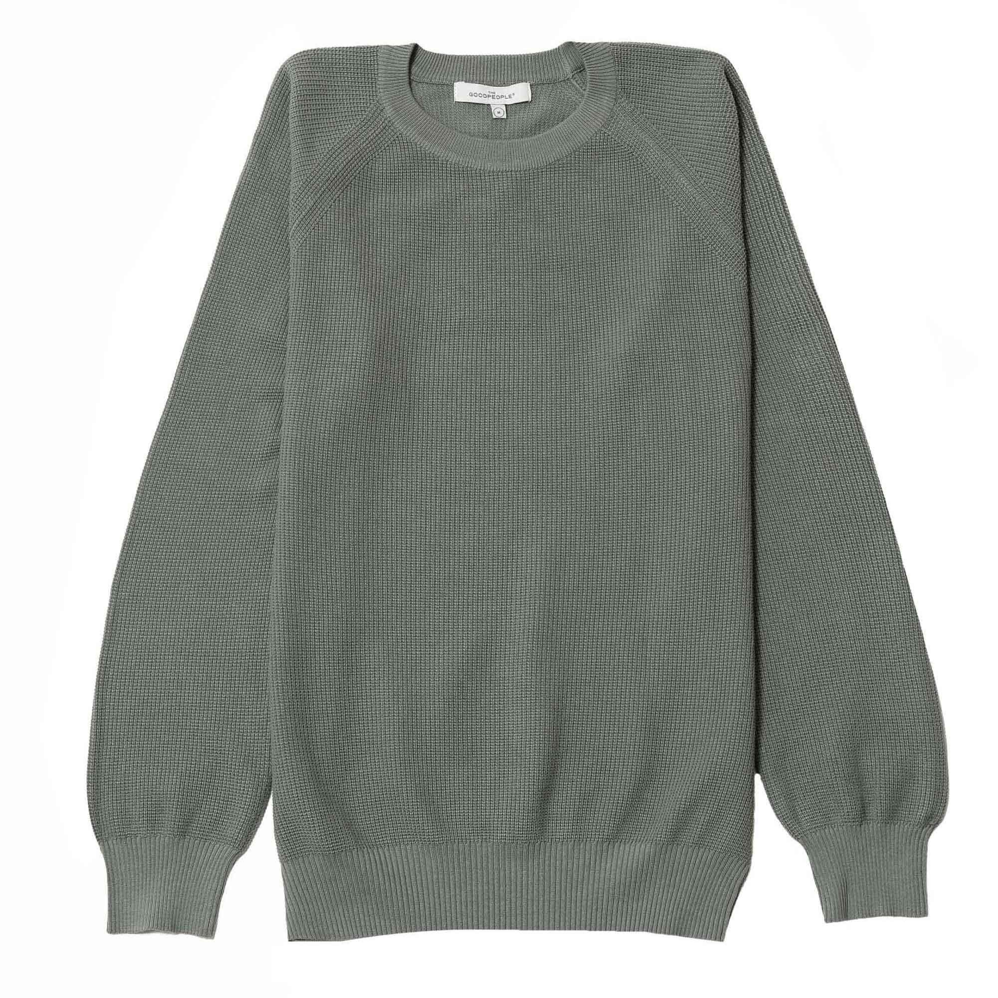 Suéter tejido verde