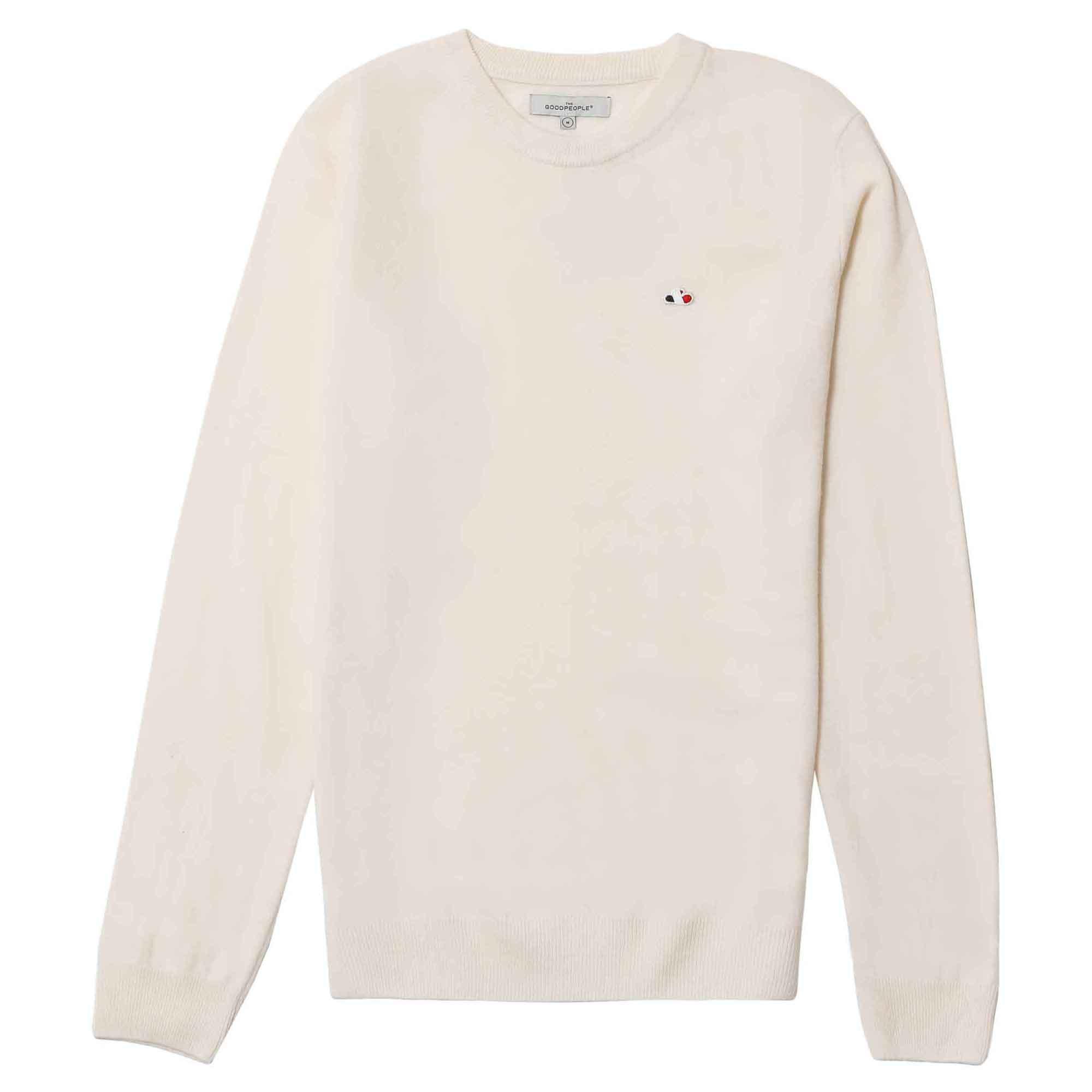 Suéter blanco con logo