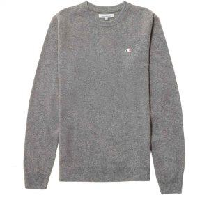 Suéter gris con logo