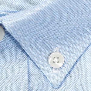Camisa Oxford azul claro con logo