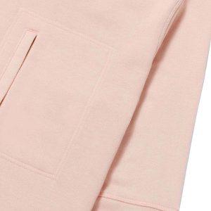 Sudadera rosa con bolsa