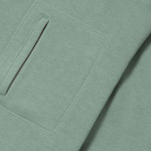 Sudadera verde con bolsa