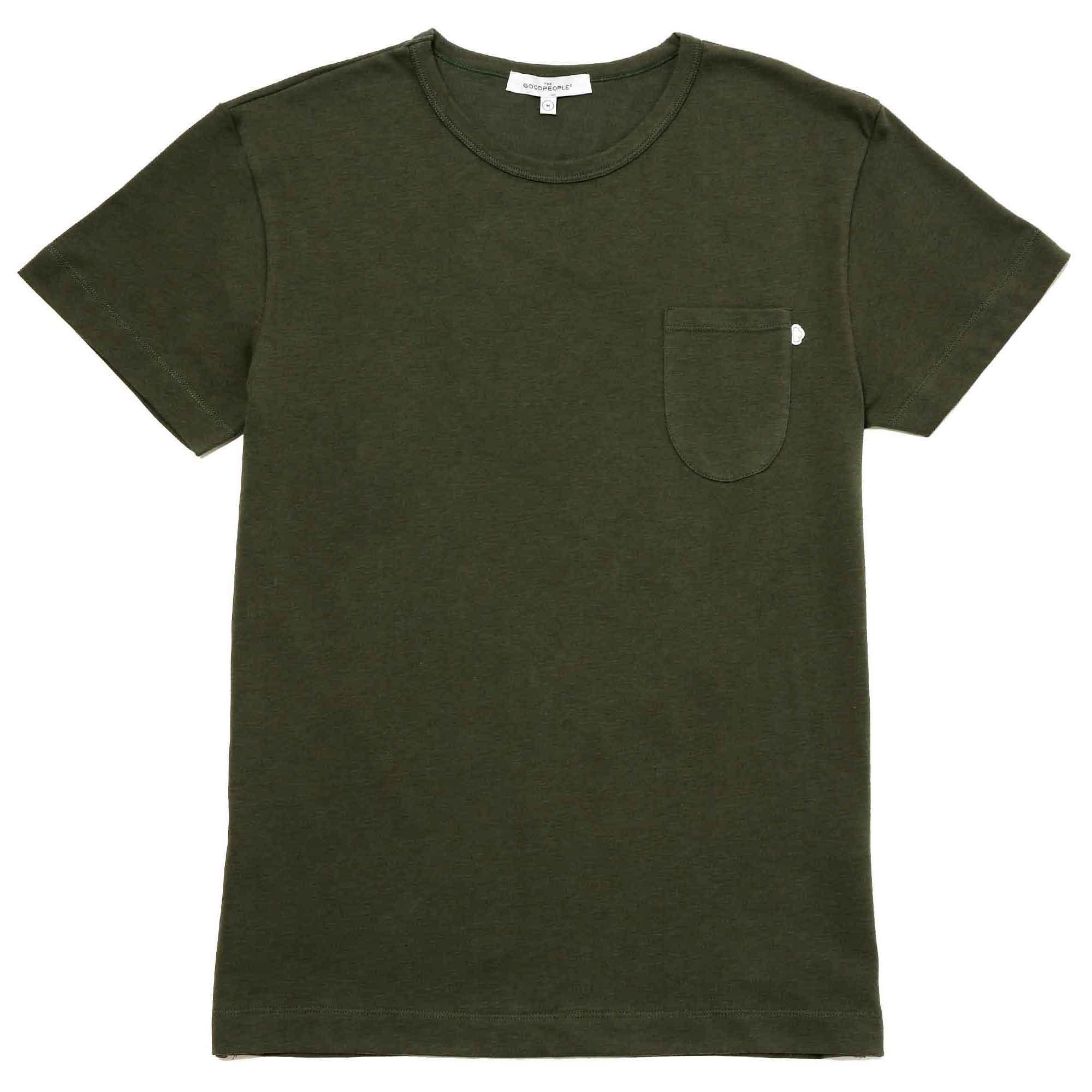T-shirt verde con bolsa