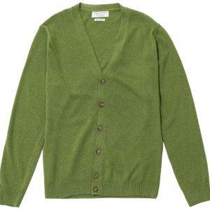 Cárdigan cashmere verde