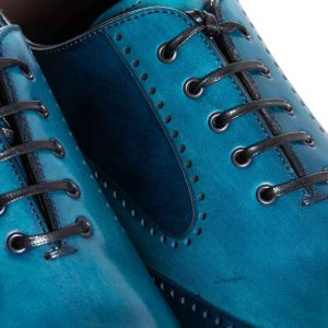 Oxford brogue bicolor azul